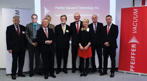 Pfeiffer Vacuum Welcomes 2013 Rontgen Prize Award Winner