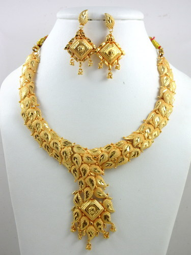 8f8cbcbba Gold Plated Necklace Set at Rs 350 /piece | गोल्ड ...