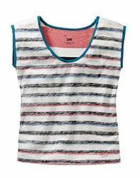 Casual Sleeveless Ladies Printed Tops
