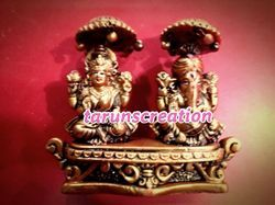 Hand Made Resin Laxmi Ganesh Idol
