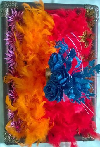 Color Coated Designer Wedding Tray