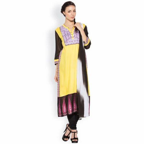 Ladies Styling Designer Long Suits - Western Designer Long Printed Party  Wear Kurtas Dress Manufacturer from Mumbai 3160dca44