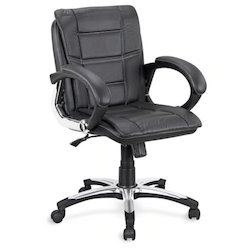 Crystal Furniture Leather Moving Chair, Size: Standard