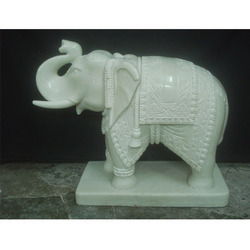 Marble Elephant Statues