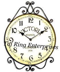 Antique Victoria Station Wall Clock