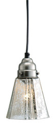 Antique Silver Glass Flare Pendant Lamp