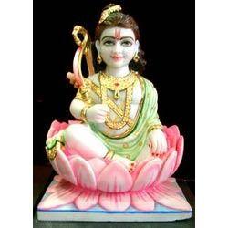 White Ram Ji Statues