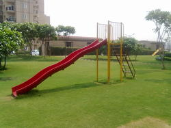 Children Play Slide