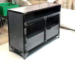 Industrial And Rustic Metal Sideboards, Cabinets