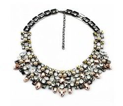 Afj589 Rhinestones Necklace