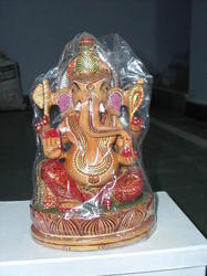 Wooden Painting Ganesha