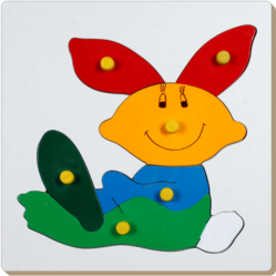 Wooden Rabbit Tray Puzzles