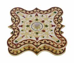 Rangoli Shaped Meenakari Decorative Box