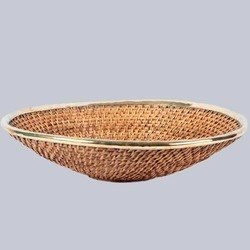 Woven Wicker Shallow Pan