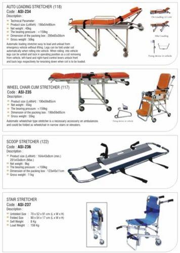 Auto Loading Stretcher Wheel Chair Cum Stretcher Scoop