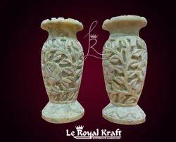 White Carving Stone Vases