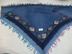 Woolen Jamawar Embroidered Triangular Scarf