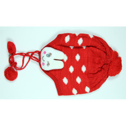 Red Kids Winter Skull Cap