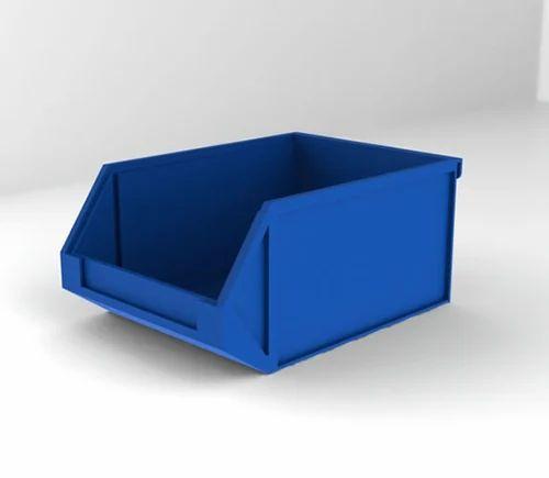 Polypropene Blue Plastic Bin