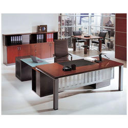 Steel & Glass Executive Table
