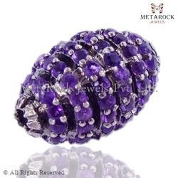 Amethyst Gemstone Spacer Finding