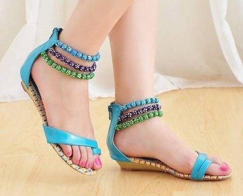 c7a9ad06fe02a Ladies Footware - Trendy Ladies Sandals Manufacturer from Agra