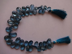London Blue Topaz Cut Pear Shape Beads