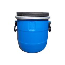 Blue HDPE 14 Liter Full Open Top Industrial Drum, For Edible Storage, 0 to 50 Litres