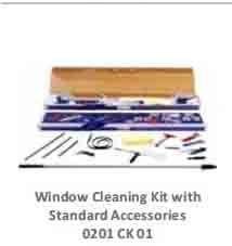 Window Cleaning Kit with Standard Accessories