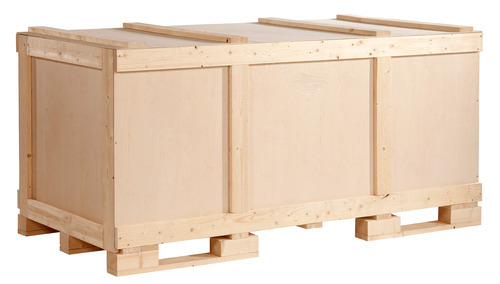 Beige Wooden Storage Boxes