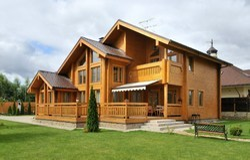 Contemporary Glulam Wood Log Homes