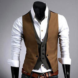 Polyester Viscose Party Mens Waist Coat, Size: S-XXL