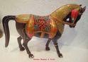 Meenakari Horse Statues