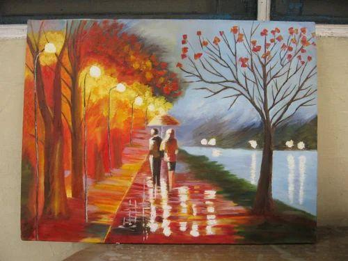 Lake View Original Oil Painting