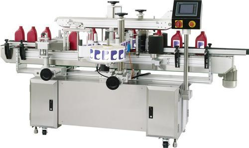 Ashirwad Lubricant Oil Can Double Side Labelling Machine, Model: ABSL150