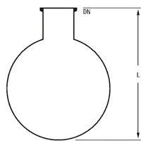 Single Neck Spherical Vessels
