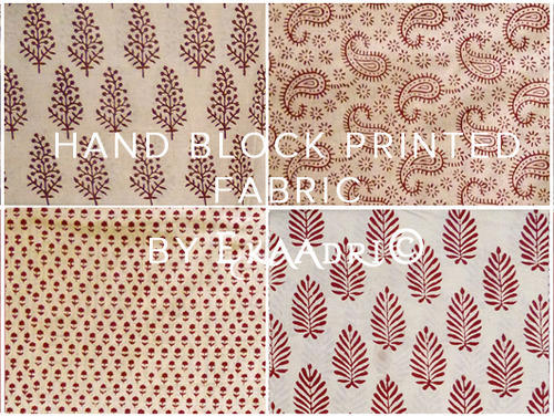 Exceptional Cotton Jaipur Bagru Hand Block Print Fabric For Dresses