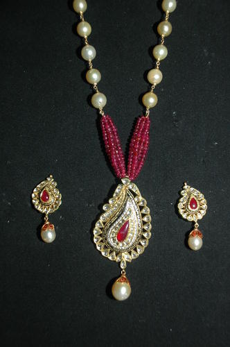 Fancy polki pendant sets gold polki pendant sets johri bazar fancy polki pendant sets aloadofball Images