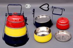 Steel Multi Color Tiffin Ware