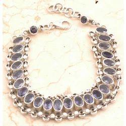 Iolite Bracelet in 925 Sterling Sliver