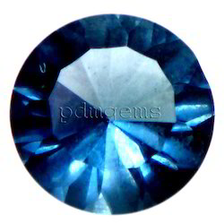 London Blue Topaz Diamond Cut Gemstone