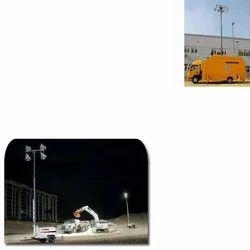 Mobile Light Mast for Construction Work