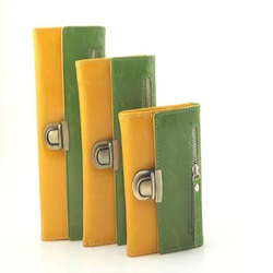 Plain Green And Yellow Fancy Ladies Clutch, Packaging Type: Packet