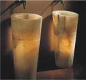 Stones Woods Metals Marble Pedestal Onyx Basins, For Bathroom