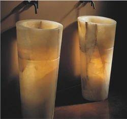 Pedestal Onyx Basins
