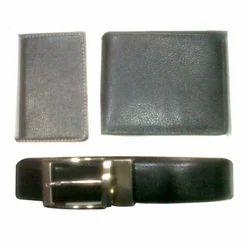 Leather Belt Wallet Handbag Set