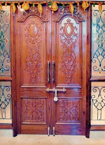 Wooden Doors Main Double Door With Designer Farme Manufacturer From Nagpur