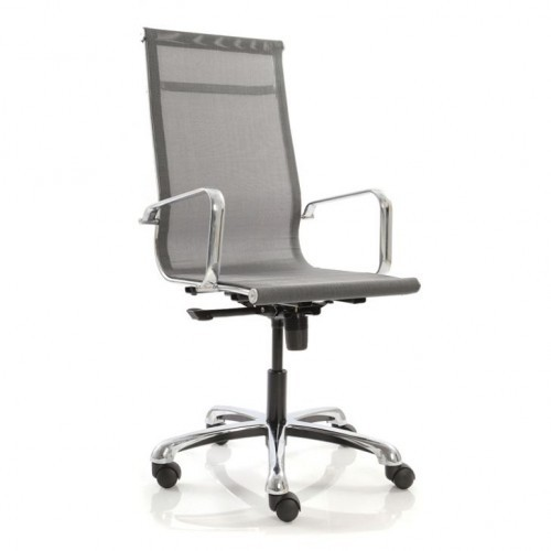 High Back Revolving Office Chair In Net Or Mesh Fab
