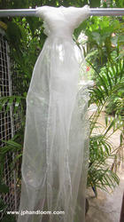Pure Organza Silk Stole Natural