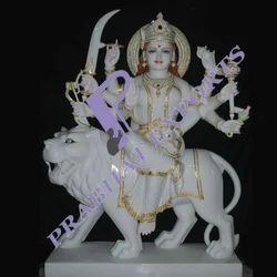 Durga Ji With Stone Work Statues